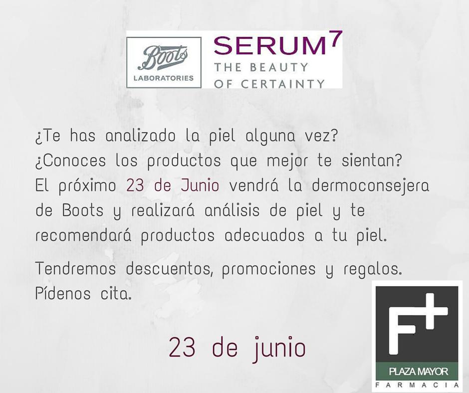 ¿Te has analizado la piel alguna vez. Serum 7 Farmacia Plaza Mayor Zamora